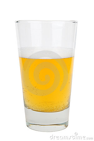 Free Half A Glass Of Light Beer Stock Image - 2022451