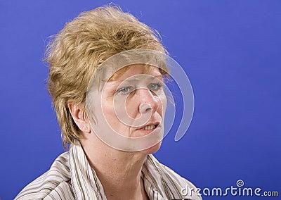Half angry woman