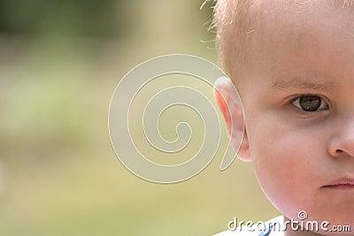Half baby face