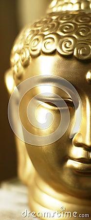 Half of buddha s head.