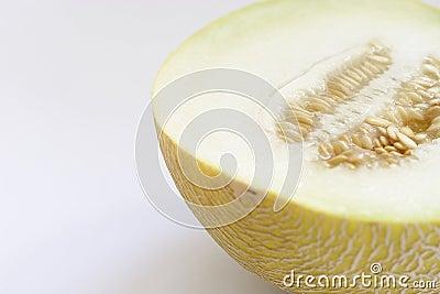 Half of a cantaloupe