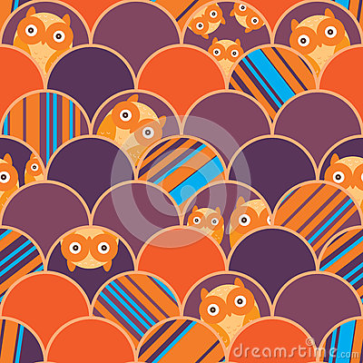 Free Half Circle Owl Unknown Orange Seamless Pattern Royalty Free Stock Photo - 70246935