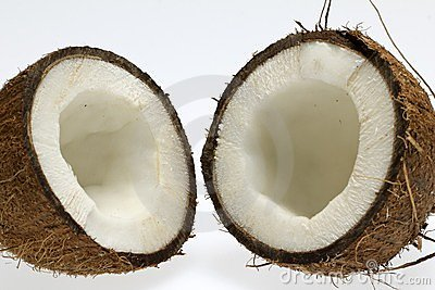 Half of coconut with white core
