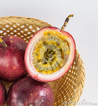 Free Half Cut Passion Fruit Stock Image - 96456721