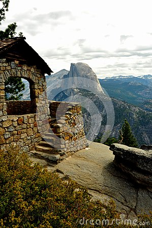 Half Dome and Geology Hut.