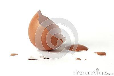 Half egg shell opening.