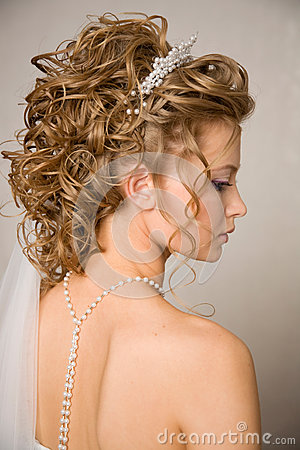 Half face of a bride