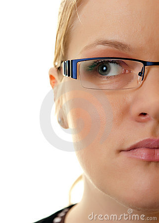 Half face woman