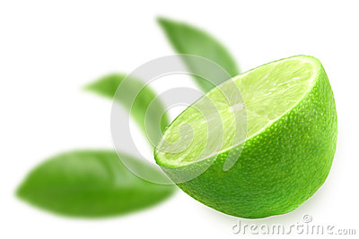 Half of fresh lime