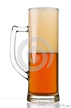 Half Full Beer Glass