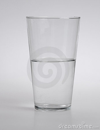 Free Half Full Or Empty Glass Of Water Royalty Free Stock Photography - 18856317