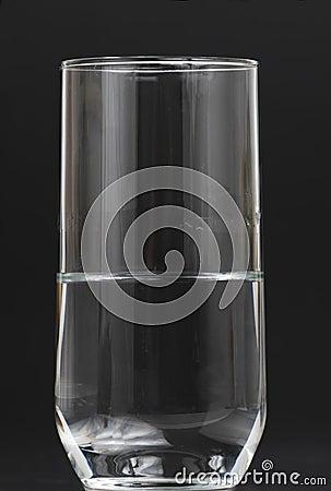 Half full water glass