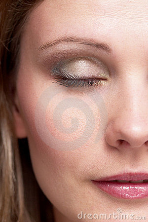 Half of girl face