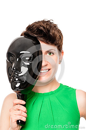 Free Half Handsome Face Hidden Behind Mask Royalty Free Stock Image - 86584106