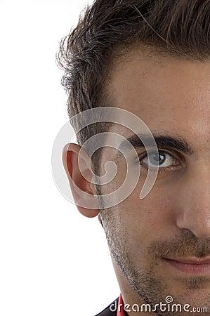 Half length of man s face