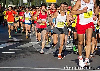 Half Marathon Editorial Stock Image