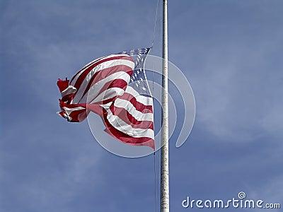 Half mass för flagga