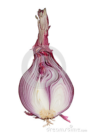 Free Half Of A Red Onion Royalty Free Stock Photo - 37653345