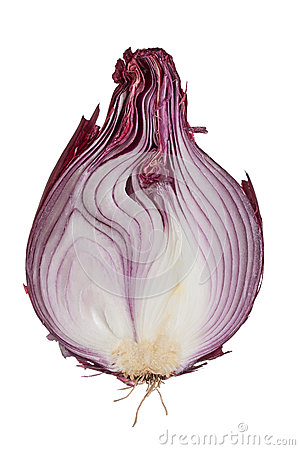 Free Half Of A Red Onion Royalty Free Stock Photo - 37708395