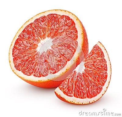 Free Half Of Blood Red Orange Citrus Fruit Isolated On White Stock Photos - 85072843