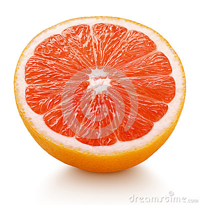 Free Half Of Pink Grapefruit Citrus Fruit Isolated On White Royalty Free Stock Photos - 88701168