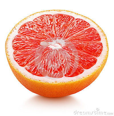 Free Half Of Pink Grapefruit Citrus Fruit Isolated On White Stock Photos - 93707393