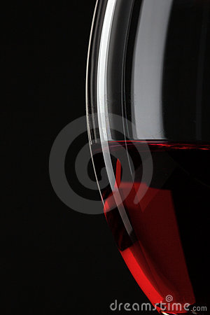 Free Half Of Red Wine Glass Royalty Free Stock Photography - 17494417