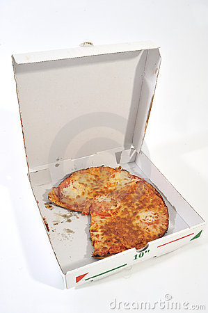 Half open Pizza Box