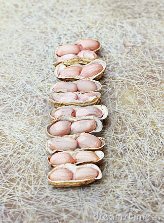 Half open roasted Peanut