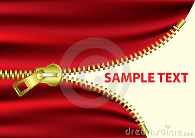 Half Open Zipper -EPS Vector-