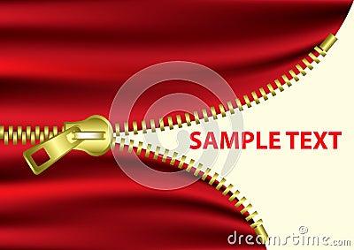 Half Open Zipper -EPS Vector-