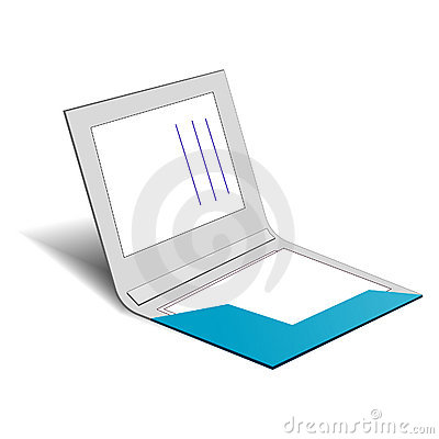 An Half Opened Folder Royalty Free Stock Photography - Image: 15414707