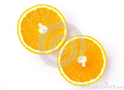 Half orange isolated