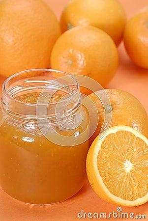 Half orange jam.