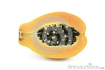 Half of papaya