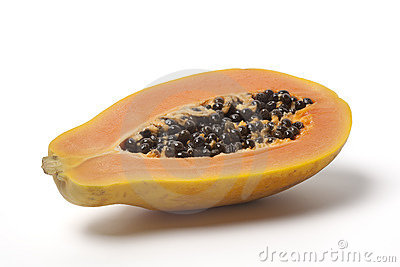 Half papaya fruit