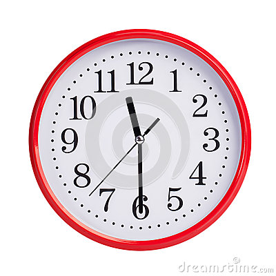 Half Past Eleven On A Round Dial Stock Photo - Image: 38756940