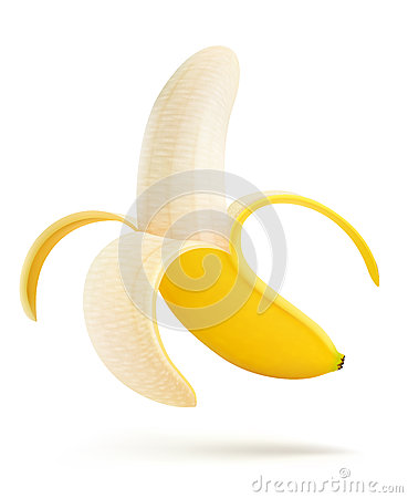 Free Half Peeled Banana Stock Photos - 24661593