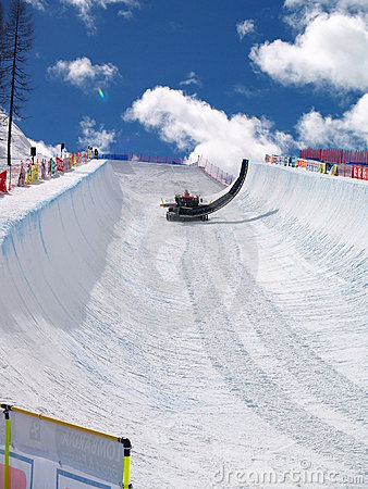 HALF PIPE FOR GRAND FINALS 2008 Editorial Photography