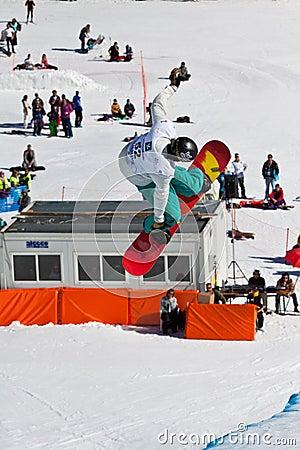 Half Pipe snowboard Editorial Stock Photo