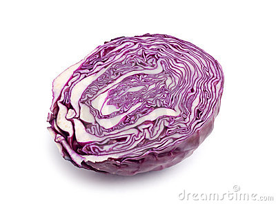 Half red cabbage