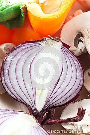 Half Red Onion