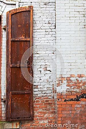 Half a rusted shutter