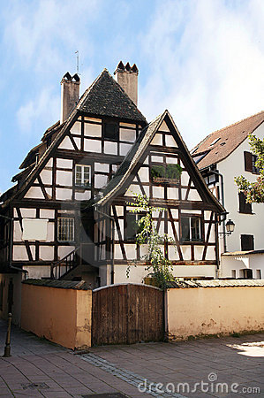 Half-timbered house, Strasbourg, Alsace, France.