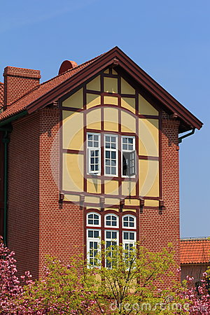 Half timbered house royalty free stock image image 30809226 for Half timbered house plans
