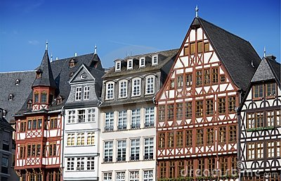 Half-timbered houses in Frankfurt