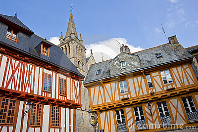 Half-timbered houses - Vannes