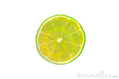 Half a wet lime