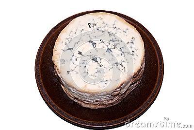 Half of a whole Stilton Cheese