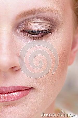 Half of woman face
